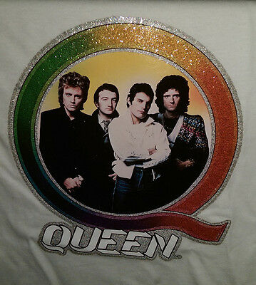 """Vintage  Rare """"QUEEN  """"  Iron-On Transfer  FULL   COLOR AND GLITTER"""