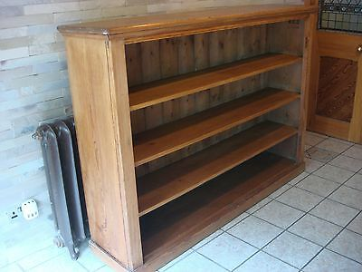 Large Pitch Pine Open Library School Bookcase Church Books Pitch better than Oak
