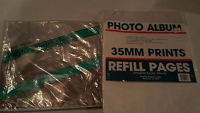 American Family Photo Album Refill Pages 35MM Pocket 32 pgs 16 Sheets 3 1/2 x 5
