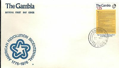 Gambia First Day Cover 1976 American Bicentennial
