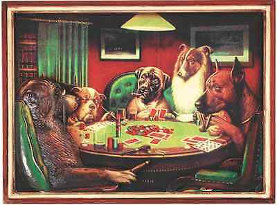 Ram R168 Poker Dogs With Cigars Pub Sign 3D Art w/ FREE Shipping