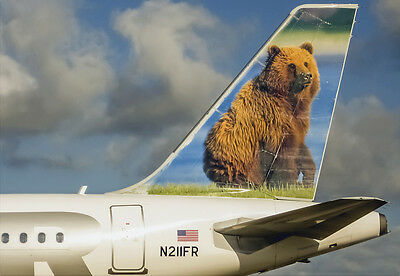 """Frontier Airlines Tail Logo Fridge Magnet 3.25""""x2.25"""" Collectibles (PMCT4022)"""