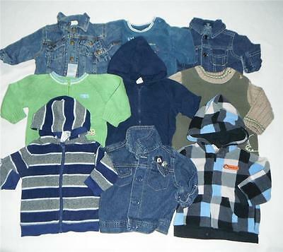 Lot Baby Boy  3-6 Months Over Coat Jacket Clothes 3/6 M Boys Hooded Hoodless