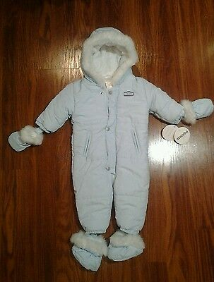 NEW  Baby Boys Blue Snowsuit by Absorba  size 6-9 months