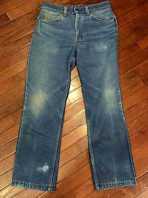 Vintage 70s Levis 509 Orange Tab USA Made Faded Mens 31 x 29 Jeans