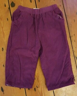 Jojo maman bebe baby girl purple cord trousers (size 12-18 months)