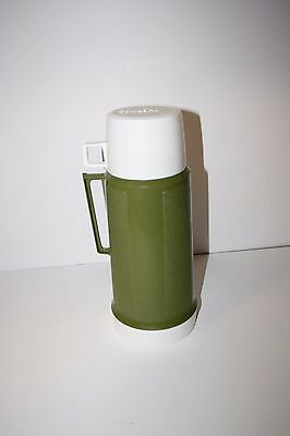 Vintage Thermos Super Quart Green Plastic Thermos King Seely