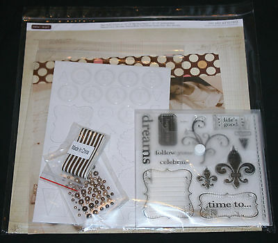 Close To My Heart YOU AND ME CC1012 Dream Flourish Chipboard Scrapbook Stamp Set