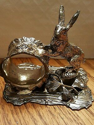 L@@K!!!!  Silverplated Figural Napkin Ring with a Cute Bunny Rabbit - WOW!!!