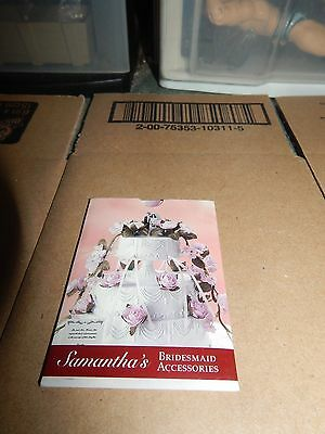 American Girl Samantha Bridesmaid Accessories Trading Card Set  Rare