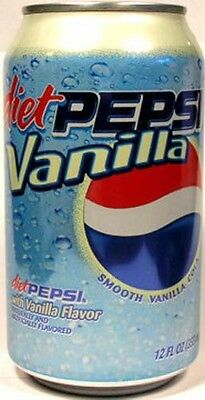 FULL NEW 12oz 355ml Can American Diet Pepsi Vanilla (Old Style 2006) USA