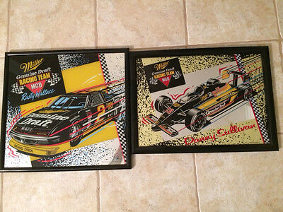 2 Miller Genuine Draft Mirrors Rusty Wallace and Danny Sullivan