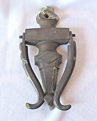 Heavy Solid Brass Door Knocker Vintage 6.5 x 3.5""