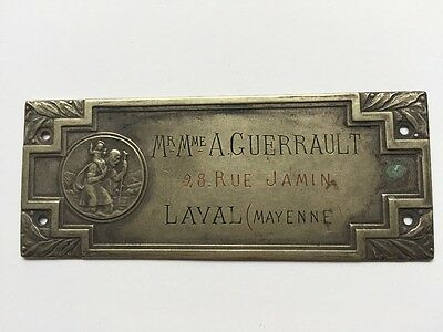 Antique French Parisian Door Address Plate