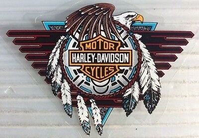 VINTAGE HARLEY DAVIDSON MOTORCYCLES DECAL NOS CONCHO EAGLE Small Inside Window