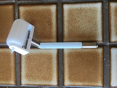 R Model White Glass High Frequency Violet Ray Wand Quack Medical Electrode Rare