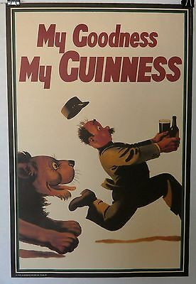 """20"""" x 30"""" Guinness Poster My Goodness My Guinness Lion Official Pub Ad"""