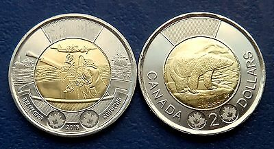 2016 - CANADA - 2 x 2$ Toonies - Regular + BATTLE of The ATLANTIC - UNC