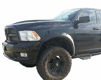Dodge Ram 1500 Riveted Style TEXTURED Fender Flares 2009-2015
