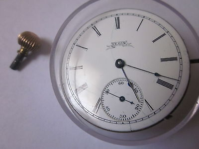 Vintage Elgin Pocket watch Movement,Good working With dial & Hand. USA Made.