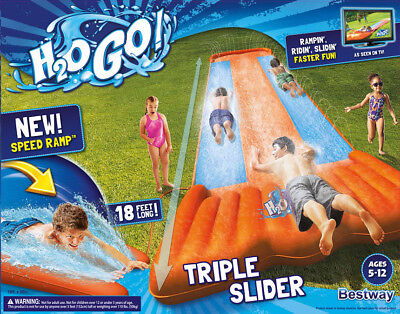 Wham-O Slip 'N Slide Hydroplane Triple Deluxe with 3 Super Boogies 6.1m Long NEW