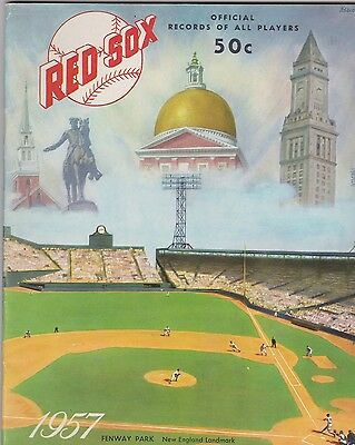 1957 Boston Red Sox Yearbook