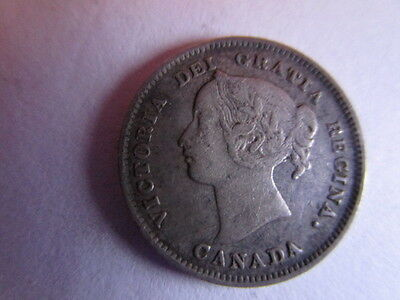 Canadian 1901 5 Cent Coin/ Approx Fine / Decent Coin/ Item# 1901 5C