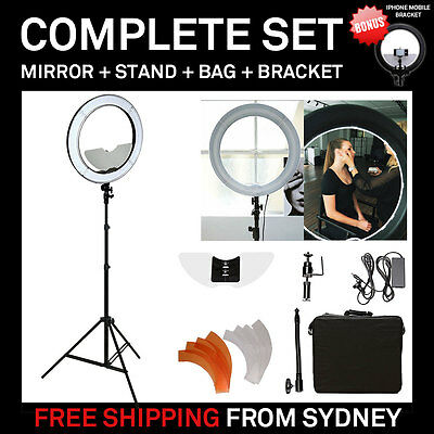 "Dimmable Diva LED Ring Light 19"" / 48.5cm 55W Mirror and Stand Make Up Studio"
