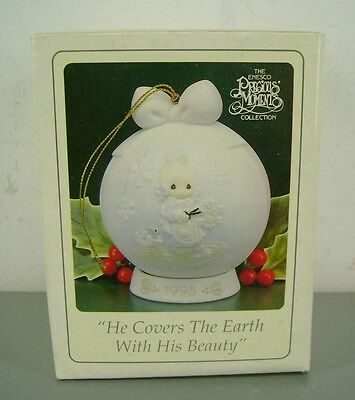 Precious Moments Porcelain Ornament He Covers The Earth With His Beauty Enesco