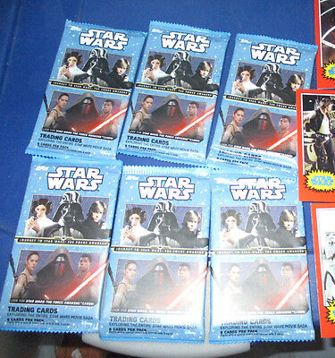 New (6) Journey To Star Wars The Force Awakens Trading Card Pack 3 Bonus Cards 2