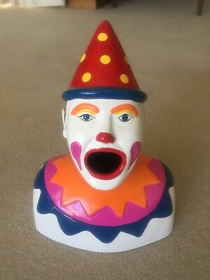 Bailey Bros Carnival Laughing Clown Money Bank New