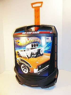 Hot Wheels Case Toy Carrying 100 Car Matchbox Handle Tote Roller Box Storage