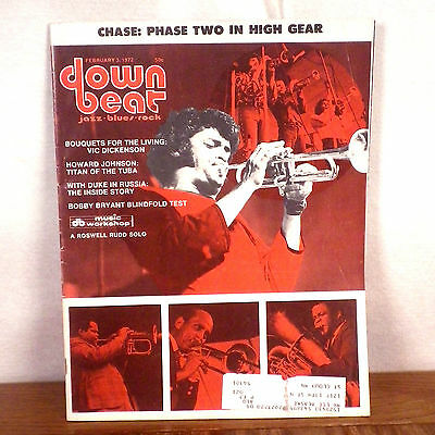 Down Beat Magazine February 3 1972 Chase Roswell Rudd Max Roach Cecil Taylor