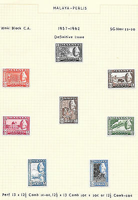 "1953/65 Malaya "" Various States "" ~ 14 Pages ~ Muh/mlh Bargain @ $8.00"