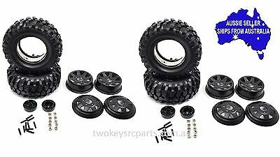 1.9 Inch Steel Wheel & Tyre Set 4 pcs For 1:10  RC Crawler inc Axial Vaterra