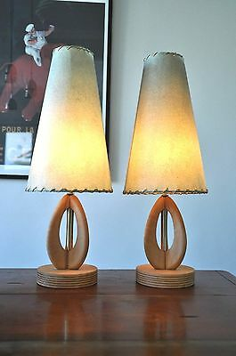 Mid Century Danish Atomic 'EFTERRET' table lamps with original shades PAIR