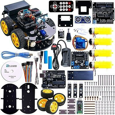 Elegoo UNO Project Smart Robot Car Kit with Four-wheel Drives UNO R3 Line Tra...