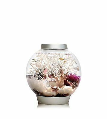 biOrb Baby Aquarium 15 Litre 30 x 32 cm Silver LED light
