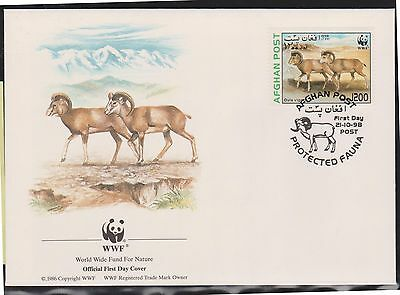 (WWG-18) 1998 WWF FDC Afghan AFS1200 two Ovis Vignei (B)