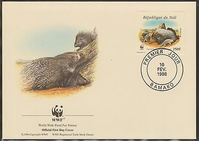 (WWG-88) 1998 WWF FDC Rep du Mali 250f Porcupine & young (D)