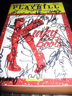 Kinky Boots Broadway Full Cast Autographed Playbill LAST ONE !!!!
