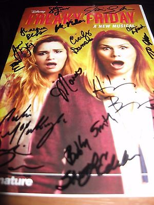 Freaky Friday World Premiere Musical Autographed Playbill WOW !