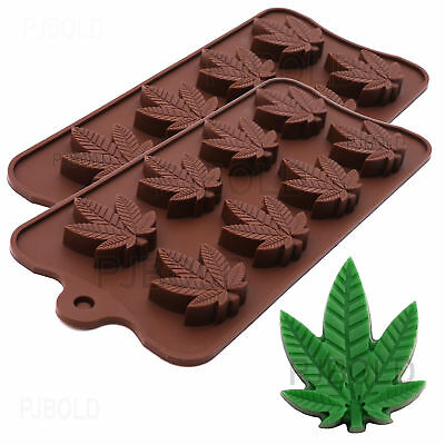 Marijuana Leaf Silicone Candy Mold Ice Cube Trays