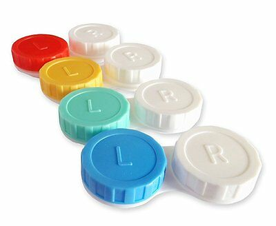 4 x Contact Lens Case Colour Coded L&R Soaking Storage Case Classic Vision Care