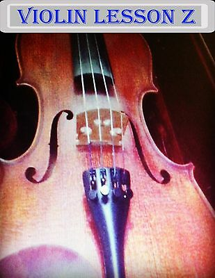 Violin Lesson Z DVD For  Beginners! Learn to play the Violin!