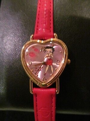 New Old Stock BETTY BOOP Heart Shaped Watch by Valdawn- EXCELLENT Condition!