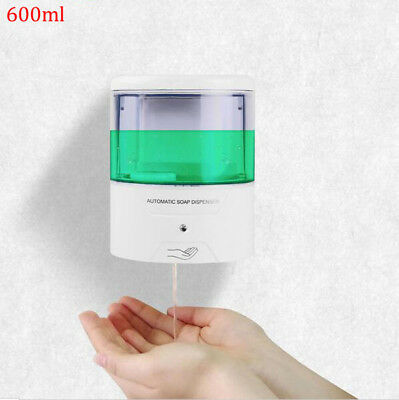 600ML ABS Automatic Sensor Soap Dispenser Wall-Mounted Machine Kitchen Use HG