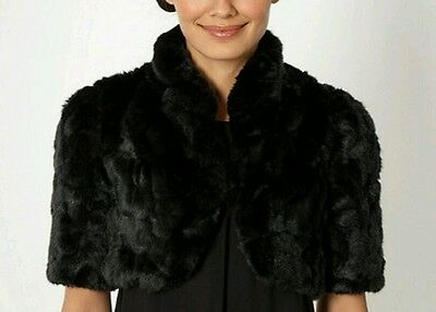 Black faux fur cover-up ~ onesize