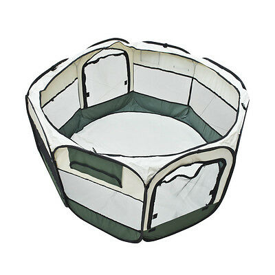 New Hot Portable Army Green Cat Playpen Tent Dog Exercise Fence Kennel Pet Cage