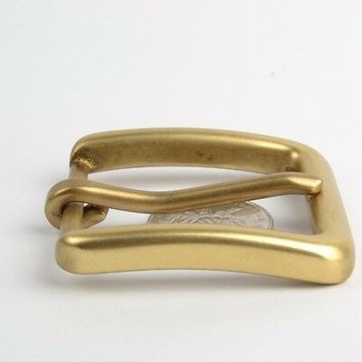Brass Pin Buckle for Men Leather Belt Spare Replacement Snap On 40mm Gold New